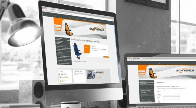 webdesign schnierle seating systems agentur gerstmayer