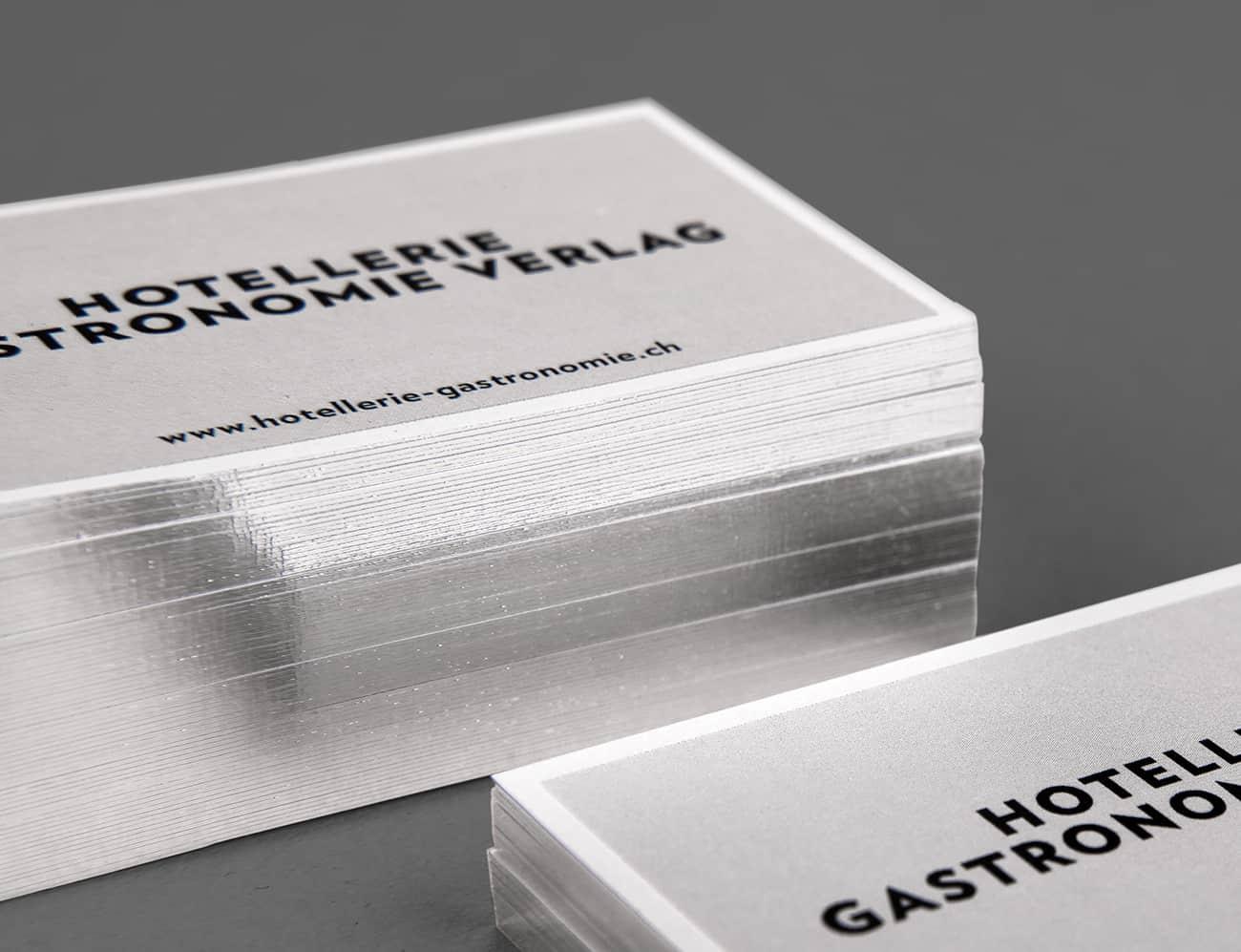 Visitenkarte Mit Farbschnitt Gco Werbeagentur Augsburg